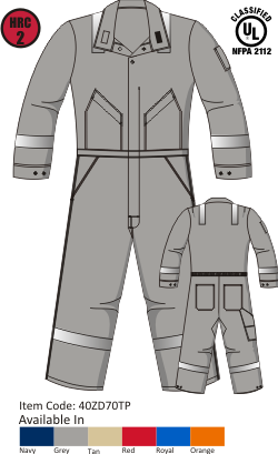 Tecasafe plus 7oz Deluxe Coverall